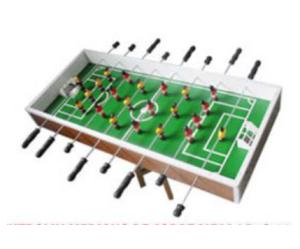 Futbolín sobre mesa