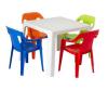 Mesa kinder con sillas plásticas